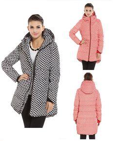 Buy from china:2015 New Fashion warm Winter Jacket women Thick Polka Dot winter coat women Medium-long Duck Down Parkas Plus Size 5XL outerwear