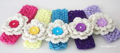 Repeat Crafter Me: Crochet Hair Clips   ☀CQ #crochet #crafts #DIY.  Thank you for sharing! ¯\_(ツ)_/¯