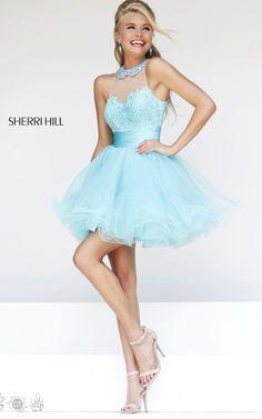 Aqua Sherri Hill 21227 Sweet Prom Dress