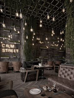 Qatar Calm Street Cafe in 2020 Cafe Shop Design, Coffee Shop Interior Design, Pub Design, Modern Restaurant Design, Deco Restaurant, Restaurant Signs, Rustic Restaurant, Cozy Cafe Interior, Home Interior