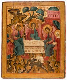 Russian Icons, European Paintings, Old Testament, Orthodox Icons, Tempera, Trinidad, Sculptures, Old Things, Auction