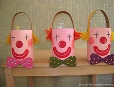 Carnaval - Ideas - Walking to a New World! Kids Crafts, Clown Crafts, Circus Crafts, Carnival Crafts, Summer Crafts, Preschool Crafts, Preschool Circus, Circus Activities, Activities For Kids