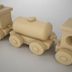 max wooden train