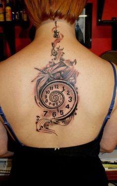 skeleton clock tattoo - Google Search