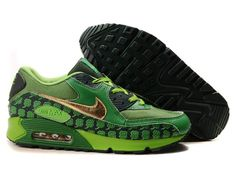 separation shoes 6220e e96a1 Ken Griffey Shoes Nike Air Max 90 Green Black Gold Clover  Nike Air Max 90  - Special design and colorway let the Nike Air Max 90 Green Black Gold  Clover ...
