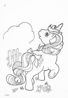 my little pony G1 coloring pages | My Little Pony G1 Coloring Pages