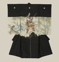 Boy's Ceremonial Kimono. Meiji period (1868-1911), Japan. A plain silk miyamairi kimono created for a ceremonial Shinto shrine blessing.