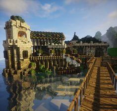 Minecraft Ships, Minecraft Bridges, Minecraft City Buildings, Minecraft Structures, Minecraft Castle, Minecraft Medieval, Minecraft Games, Minecraft Architecture, How To Play Minecraft