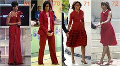 michelle obama ciemna czerwień Michelle Obama Fashion, Diva Fashion