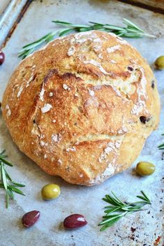 Rosemary Green and Black Olive bread