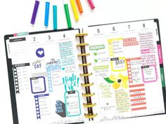ROYGBIV January weekly pages in the CLASSIC 'This is Your Year' Happy Planner® of mambi Design Team member Michelle Weissert   me & my BIG ideas