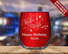 ENGRAVED WINE GLASS Custom Print Design Birthday Wine | Etsy Birthday Wine Glasses, Funny Wine Glasses, Stemless Wine Glasses, Wine Images, Engraving Printing, Gifts For Wine Lovers, Personalized Wine, White Gift Boxes, Boyfriend Girlfriend