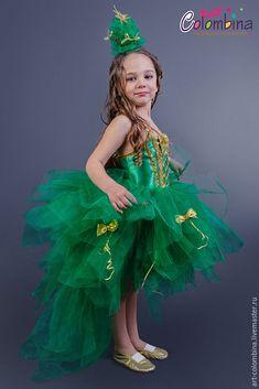 Купить костюм ёлки - тёмно-зелёный, костюм ёлки, костюм елочки, карнавальный костюм