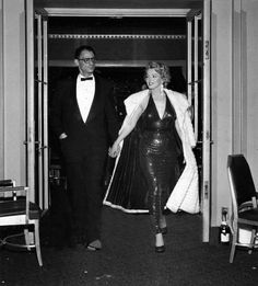 Marilyn Monroe and Arthur Miller at the premiere of Baby Doll, December 18, 1956.