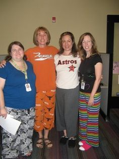 """I had the pleasure of participating in a ""slumber party"" during Teen Fest at the Carver Branch of the Austin Public Library this past Saturday. The other featured speakers were fellow Austin YA authors April Lurie (Texas shirt) and Jennifer Ziegler (Astros shirt)."""