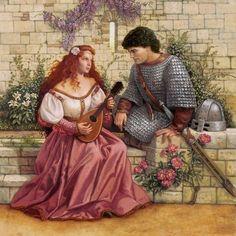 Guinevere and Lancelot • Ruth Sanderson / Fantasy Art • P - T