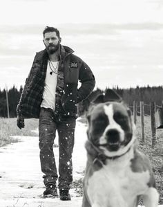 Best pic ever. Funny dog and extremly hot man! Tom Hardy • | Esquire UK, May 2015 | photographs by Greg Williams