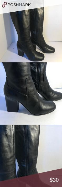 """Nine West Stunning Leather Boots Absolutely stunning leather boots in excellent condition!!!! Soles excellent condition! Only worn a couple times in fashion shows. Beautiful boots!!!!!  2.5"""" heels . YOU CAN CHOOSE TO PURCHASE ONLY 1 ITEM, BUT YOU CAN ONLY PURCHASE UP TO 3 ITEMS PER ORDER. OR YOUR ORDER WILL BE CANCELLED. Nine West Shoes Heeled Boots"""