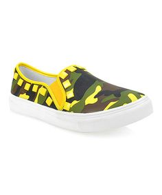 Love this Yellow Camo Stud Flint Slip-On Sneaker on #zulily! #zulilyfinds