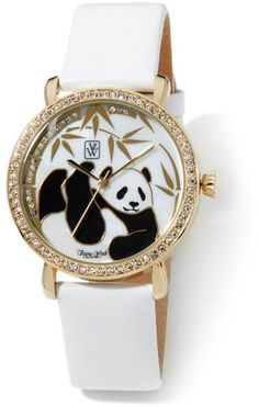 Victoria Wieck Panda Watch NIB White Leather Strap | Jewelry & Watches, Watches, Parts & Accessories, Wristwatches | eBay!