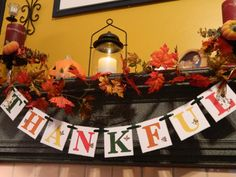 Excited to share the latest addition to my shop: Give Thanks Fall Decorations - Thanksgiving Decorations - Thanksgiving Banner - Thankful Banner - Fall Mantle Garland - Family Photo Prop Thanksgiving Mantle, Thanksgiving Centerpieces, Thanksgiving Activities, Thanksgiving Crafts, Thanksgiving 2020, Fall Crafts, Mantle Garland, Fall Leaf Garland, Fall Fireplace Decor