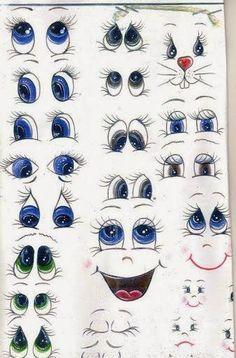 фофуча (куклы и игрушки из фоамирана)идеи,мастер-классы: шаблоны для глаз