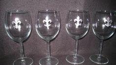 wine glass reuse craft - YouTube