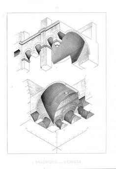 Larchitecture en perspective axonométrique plafonnante par Auguste Choisy auguste choisy architecture illustration 01 633x920