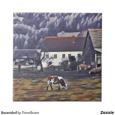 Bauernhof Fliese Austria, Painting, Cow, Tiles, Pictures, Painting Art, Paintings, Paint, Draw
