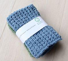 kjøkkenklut (1 of 1) Knitted Hats, Crochet Hats, Pot Holders, Free Pattern, Diy And Crafts, Winter Hats, How To Make, Dishcloth, Knitting Charts