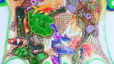detail achterkant laptoptas Textiles, Painting, Art, Art Background, Painting Art, Kunst, Paintings, Performing Arts, Fabrics