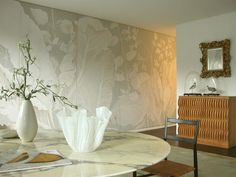 hand painted wall panels by Wouter Dolk