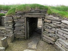 The Connecting Passageway Between Structures at the Knap of Howar, Papa Westray, Orkney, Scotland (J. Demetrescu 2010)