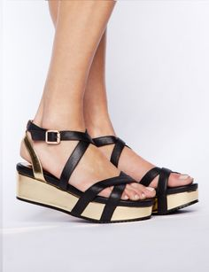 Gold-strappy-wedges - Shop the latest Fashion Trends