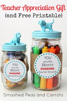 TUTORIAL: Teacher Appreciation Gift And FREE Printable! - Smashed Peas and Carrots