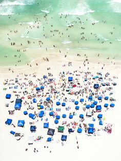 For Up in the Air, aerial photographer Antoine Rose transforms the beachscapes of Miami and Long Island into abstract compositions of umbrellas, towels, and tiny human figures. Rose explains that for him, the beach is a magical sort of equalizer; with everyone in swimming suits enjoying the same scenery, distinctions of class and experience fade into the background. Here, the miniature bathers and sun tanners are seen through the same objective lens, each individual wonderfully ...