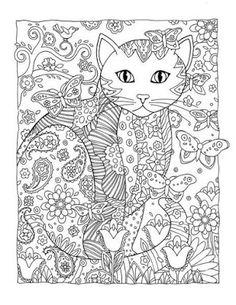 18 Mándalas de gatitos mariposas y flores para colorear ~ Haz Manualidades