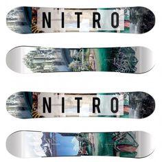 Nitro Team Exposure snowboard white black