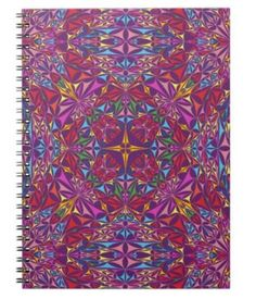 Kaleidoscope of Colors Notebook $14.35 *** The Kaleidoscope of Colors design pattern - notebook