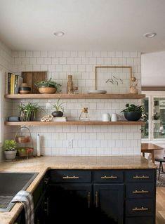 Classic Kitchen, Rustic Kitchen, Diy Kitchen, Kitchen Interior, Kitchen Decor, Kitchen Ideas, Awesome Kitchen, Cuisines Diy, Cuisines Design