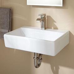 Burgess Porcelain Wall Mount Semi Pedestal Sink   Pedestal Sinks   Bathroom  Sinks   Bathroom | Bathroom | Pinterest | Pedestal Sink, Wall Mount And  Sinks