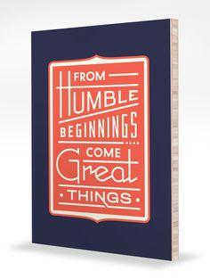 Humble Beginnings by Dan Cassaro via Help Ink