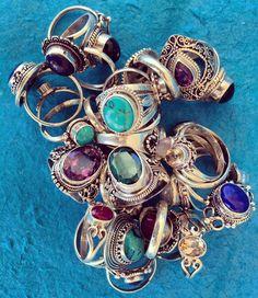 Rings for days  #sterlingsilverrings #gemstonerings #bohorings #gypsyrings #gypsyjewels #bohojewels