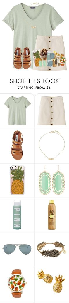 """stand tall and be sweet "" by karinaceleste ❤ liked on Polyvore featuring MANGO, Steve Madden, Cole Haan, Casetify, Kendra Scott, Victoria's Secret, Sun Bum, Ray-Ban, Bourbon and Boweties and A Classic Time Watch Co."