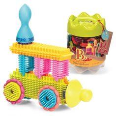 Klocki jeżyki w słoju - Stackadoos B. Toys