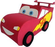 Molde Relâmpago McQueen em EVA 3D, com dicas de montagem e lista de materiais! Envio por e-mail.  Temos também os moldes da Perua Hippie, do carrinho Guido e da empilhadeira Guido. R$ 13,50