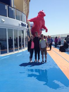 Quantum of the seas April 12-24 in 2015.  1st day of cruise.  Touring the ship
