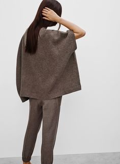 Made with plush merino wool, this cape sweater has a felted feel that's just right for chilly days. Wear it on its own as a top, or as a cozy layer over other pieces. Normcore, Sweaters, How To Wear, Capes, Sew, Style, Fashion, Cape Clothing, Moda