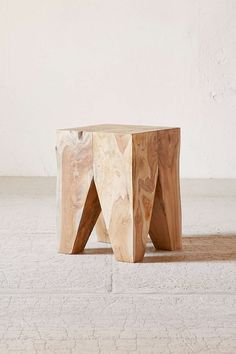 urban outfitters woodblock square stool made from natural teak root