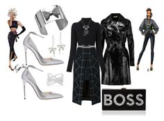 """""""B is for BOSS"""" by deirdre35 ❤ liked on Polyvore featuring Michael Kors, Sacai, Balmain, Moschino, Jimmy Choo, DB Designs, Effy Jewelry, Amanda Rose Collection and Milly"""
